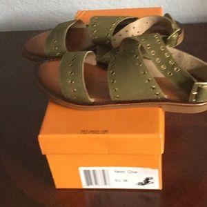Miz Mooz Shoes - Olive Green Leather sandals.